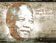 Portrait Briques et Mortiers, notre nouvelle variation de Street Art, inspirée par un artiste de rue très doué, Alexandre Farto (allez donc voir son site : http://alexandrefarto.com/). Un style extraordinaire pour célébrer l'anniversaire d'un personnage extraordinaire !  Nelson Mandela par www.personal-art.fr