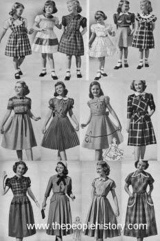 Even though I was a baby in 1951, by the time I was wearing dresses like this they were still very much this style.