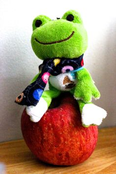 159/365 Pickles the frog and the apple