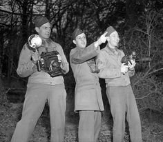 21 Mar 1944: Fred Poinsett, Benjamin Benetsky, and Nelson Irving - Detachment D, 165th Signal Photo Company