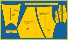 Utilize a base da cueca boxer, cujo traçado você encontra em minha Apostila de Modelagem Plana Lingerie, aqui  .    Acrescente a medida de...