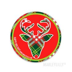 Marley Lilly Promotional Sticker - Holiday Reindeer
