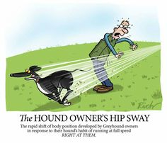 The hound owner's hip sway, by Richard Skipworth