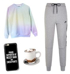 """""""Lazy Winter Day"""" by writerchic-618 ❤ liked on Polyvore featuring NIKE, Casetify and Aroma"""