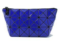 9ce6a595e7b3 BAO BAO ISSEY MIYAKE Pouch Clutch Bag BILBAO LUCENT-1 BB41AG301 Deep Blue  JAPAN