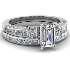 2 Ct Emerald Cut Diamond Trio Stone Magnificent Engagement Wedding... ($5,880)