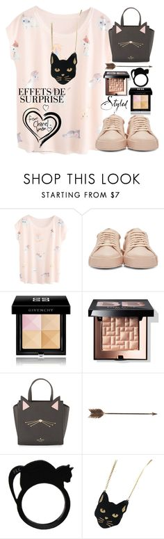 """Meow"" by erohina-d ❤ liked on Polyvore featuring beauty, Jil Sander, Givenchy, Bobbi Brown Cosmetics, Kate Spade, Creative Co-op and Chicnova Fashion"