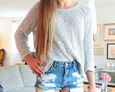 73. one of my favorite styles is a sweater with shorts and converse. [im literally wearing that rn]