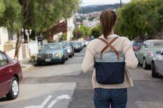 Items similar to Denim Backpack/ Denim Tote Bag/ Convertible Backpack Purse/ Navy Blue Backpack/ Denim Bookbag/ Leather Backpack on Etsy Denim Backpack, Denim Tote Bags, Backpack Purse, Leather Backpack, Drawstring Backpack, Bags 2014, Cork Fabric, Convertible Backpack, Handmade Purses