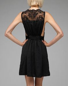 Dress with lace