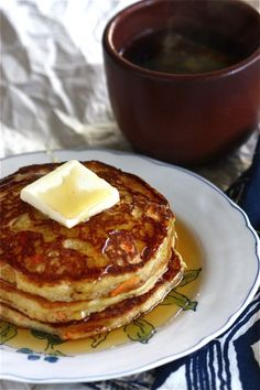 Corn Carrot Pancakes (sub the AP flour for more corn meal) can't wait to try these!