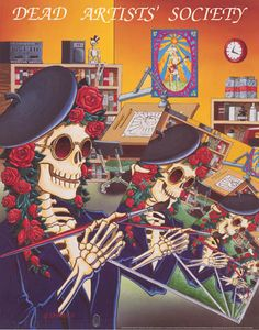 An awesome Grateful Dead poster for any fan! The item is an original published in 1991 by Relix with art by Gary Kroman. Fully licensed. Ships fast. 24x30 inches. Have a grateful time checking out the