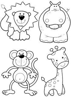 Раскраска звери для детей | Детские раскраски, распечатать, скачать