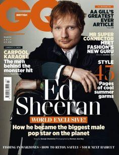 Ed Sheeran covers British GQs Latest Issue