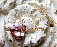 Rose Gold Necklace, 14K Gold Necklace by My Sweet Nomsa on Etsy