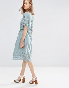 ASOS | ASOS Double Layer Broderie Midi Dress