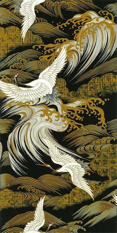 Pattern Leather Nunchuck Japanese Asian Sewing Quilting Fabric Kona Bay by Shiboridragon Japanese Textiles, Japanese Patterns, Japanese Fabric, Japanese Prints, Art Asiatique, Art Japonais, Japanese Painting, Art Graphique, Japan Art