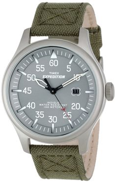 Timex Men's T49875 Expedition Military Field Green Nylon Strap Watch