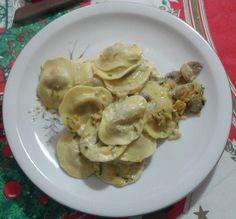 In Tutte Le Salse - Ravioli in salsa di zucchine, carote e funghi