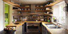 Small Kitchen Design Ideas - Decorating Tiny Kitchens #tiny #design #nice