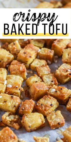 Firm Tofu Recipes, Healthy Asian Recipes, Tasty Vegetarian Recipes, Chinese Tofu Recipes, Recipes Using Tofu, Tofu Dishes, Vegan Dishes, Vegan Foods, Vegetarian
