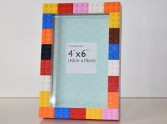 Chunky Multi Coloured Lego Frame Fits 6x4 Photo With Glass & No Glue by WhatsThatUK on Etsy https://www.etsy.com/listing/251820090/chunky-multi-coloured-lego-frame-fits