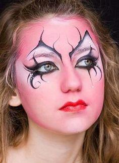 Hot face paint for Halloween | http://paintbodyideas335.blogspot.com