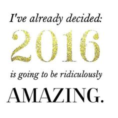 It's going to be a great one, I can feel it. Hope yours is, too!