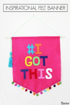Boost your loved ones mood with your favorite inspirational quote on this fabulous felt crafts banner!