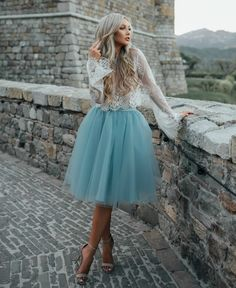 "Dusty blue ""Juliet"" tulle skirt by Bliss Tulle"