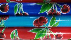 """Oilcloth Alley's """"Vintage Cherry Oilcloth Collection""""   -->> www.oilclothalley.com        #Retro #Vintage #OilclothByTheYard #OilclothAlley #RockaBilly #RockaBillyLifestyle #RetroKitchenTablecloths #RetroKitchen #Fifties #CherryFabric #WaterproofFabric StainresitantFabric #cherries"""