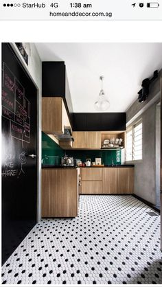 Kitchen flooring   http://www.homeanddecor.com.sg/blogs/retro-vintage-kitchens-dining-areas
