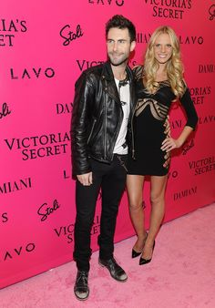 Adam Levine of Maroon 5 with Victoria's Secret Angel, Anne V at the Victoria's Secret Fashion Show Afterparty.    @LAVO NY