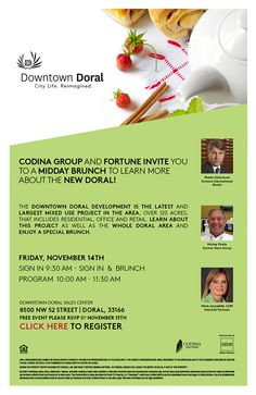 Downtown Doral. Invites all the realtors to have a breakfast an present the new and best of Doral. #Doral #CodinaGroup #Downtown