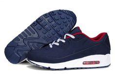 purchase cheap 0fe98 adf6b Pas cher France Nike Air Max 90 Sharpei Chaussures Homme SombreBleu Moins  Cher