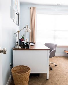 Office Makeover- I still love this space!  Sometimes a little bit of paint can go a long way!!
