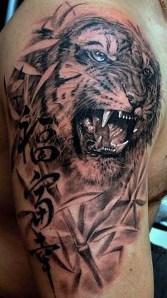 Shoulder tiger. My absolute favourite. Incredible Dmitriy Samohin tattoo.