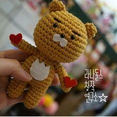 Pattern by LANA Mustard color yarn Crochet hook Stuffing 5mm Black eyes ...