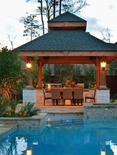 How Amazing  does this look???  I could spend quality time on a pool float in there.  #PinMyDreamBackyard