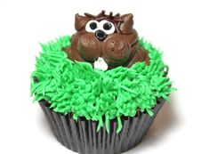 12 of the Best Groundhog Day Fun Food Ideas – Parade Dog Cupcakes, Fancy Cupcakes, Holiday Cupcakes, Holiday Treats, Cupcake Cakes, Holiday Foods, Holiday Fun, Holiday Recipes, Happy Groundhog Day