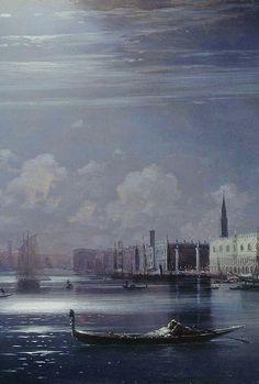 Ivan Aivazovsky - Night landscape, Venice