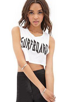 Surfboard Crop Top | FOREVER21 - 2055878886