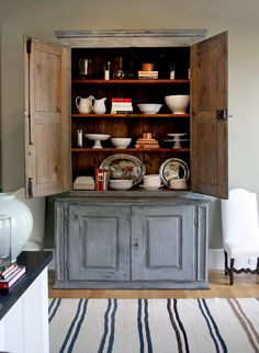 {ina garten's house} love this cabinet and color