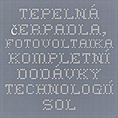Tepelná čerpadla, fotovoltaika - kompletní dodávky technologií - Soleg, Plzeň - Kontakty