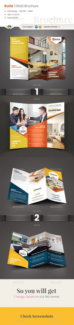 Build Real Estate Trifold Brochure - Corporate Brochures