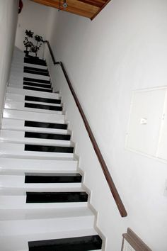 Decorating ideas for stairs and hallways stair decor ideas to make your hallway look amazing decorating . decorating ideas for stairs and hallways Painted Staircases, Painted Stairs, Piano Stairs, Basement Stairs, Decoration Hall, Music Studio Room, Dance Studio, Staircase Makeover, Stair Decor