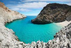 The wonderful Stefanou beach (Seitan Limania), Chania, Crete, GREECE