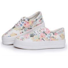 Women-Girl-Summer-Casual-Canvas-Flower-Lace-Up-Floral-Print-Sport-Shoes-Sneakers