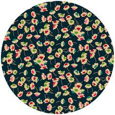 Liberty Lifestyle Fabrics, Bloomsbury Gardens, Dance Magenta Teal