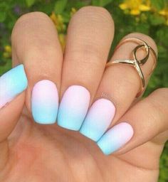 Best Ombre Nails for 2018 - 48 Trending Ombre Nail Designs - Best Nail Art Summer Acrylic Nails, Best Acrylic Nails, Trendy Nail Art, Stylish Nails, Trendy Hair, Cute Nails, Pretty Nails, Pastel Nail Art, Pastel Pink